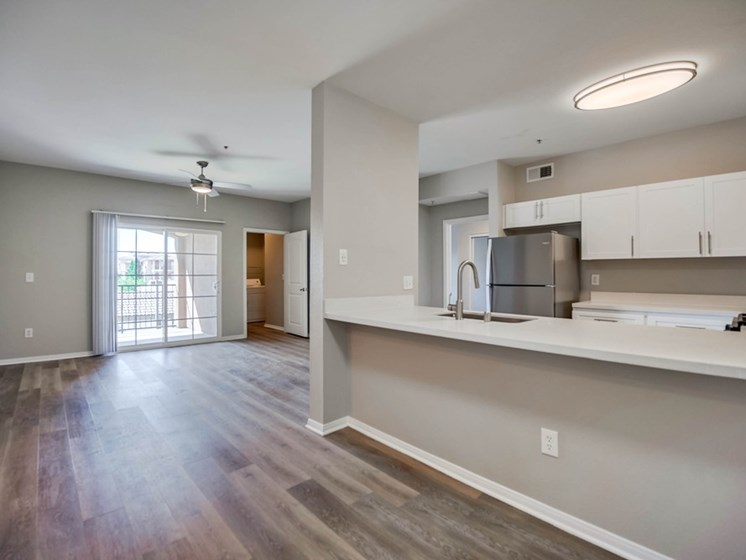 Unfurnished Kitchen and Living Room